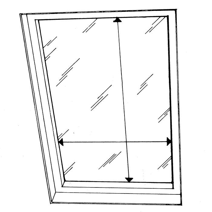 üvegfelület tetőablakon