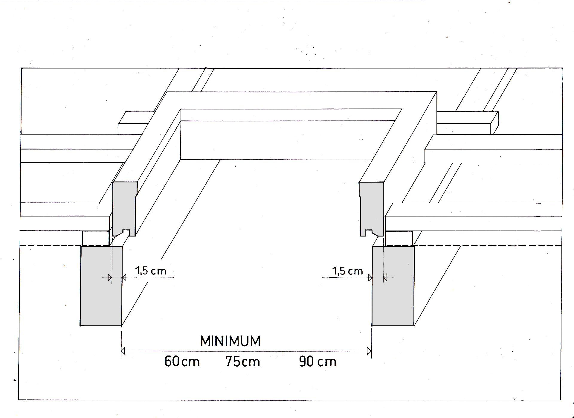 Minimális szarufatávolság a hőszigetelő keret beépítéséhez